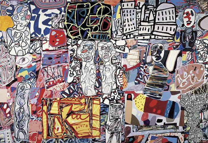 Jean Dubuffet  Mêle moments, 1976  Acrylic and collage on paper mounted on canvas, 248.9 x 360.7 cm  Private Collection