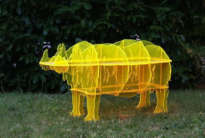 Gino Marotta, Rinoceronte solare, 1971, metacrilato
